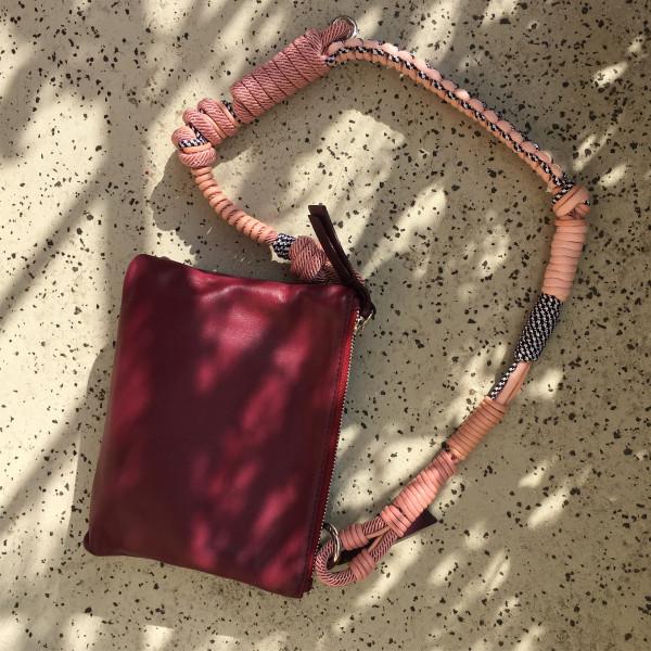 Makramee Bag Strap Barcelona pink/pink