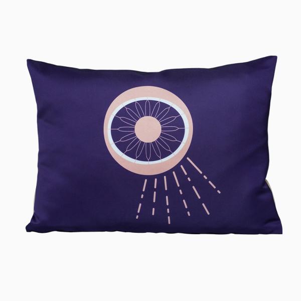 Kissen Auge - Violett