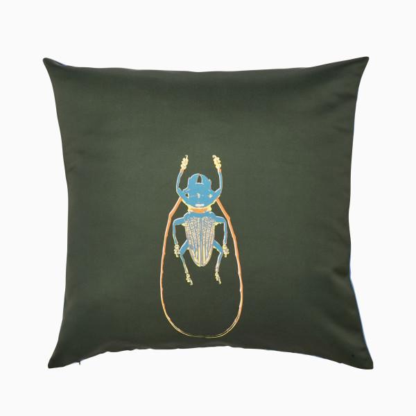 Kissen Käfer - Dunkelgrün