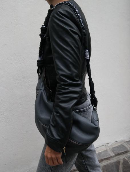 Makramee Bag Strap Barcelona Black