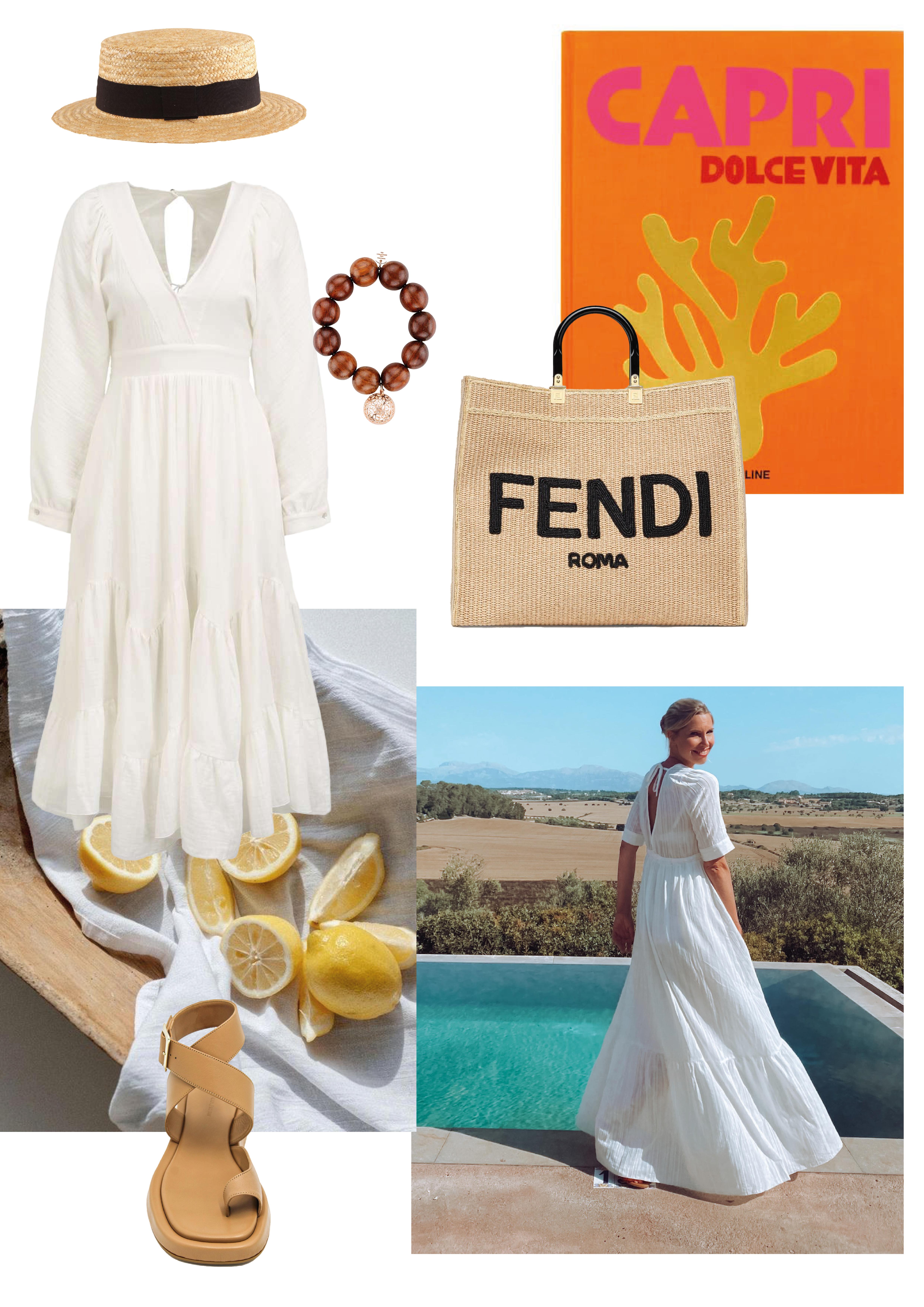 Kleid: SoSUE Wendy Dress Kleid: SoSUE California Dress Tasche: Fendi Schuhe: GIA Schmuck: Marjana von Berlepsch