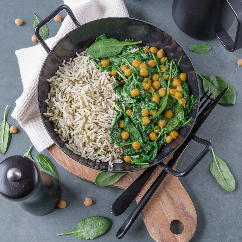 Saisonrezept Februar - Spinat auf indische Art