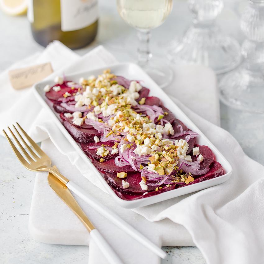 Saisonrezept - Rote Bete Salat mit sautierten Zwiebeln&Schafskäse