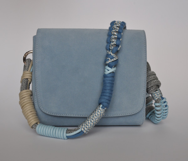 Makramee Bag Strap Barcelona Light Blue