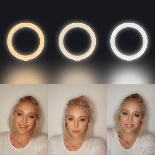 Vergleich Ringlicht verschiedene Einstellungen
