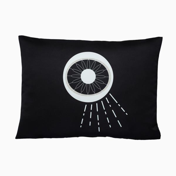Kissen Auge - Schwarz/Beige
