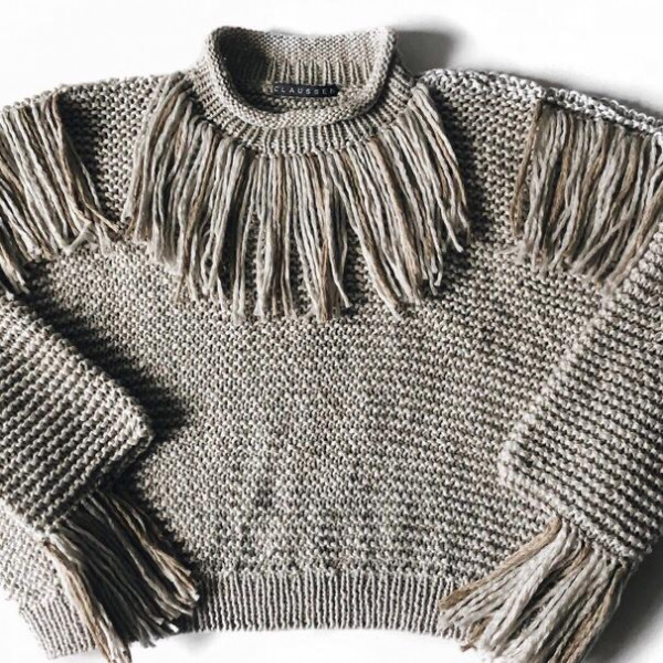 Pullover- Style INDIA GREIGE