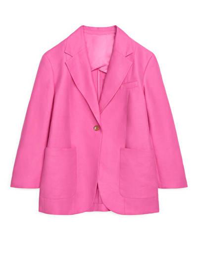 Oversized Cotton-Hemp Blazer-€150