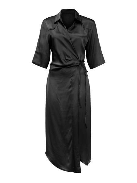 Kleid Wrap Black