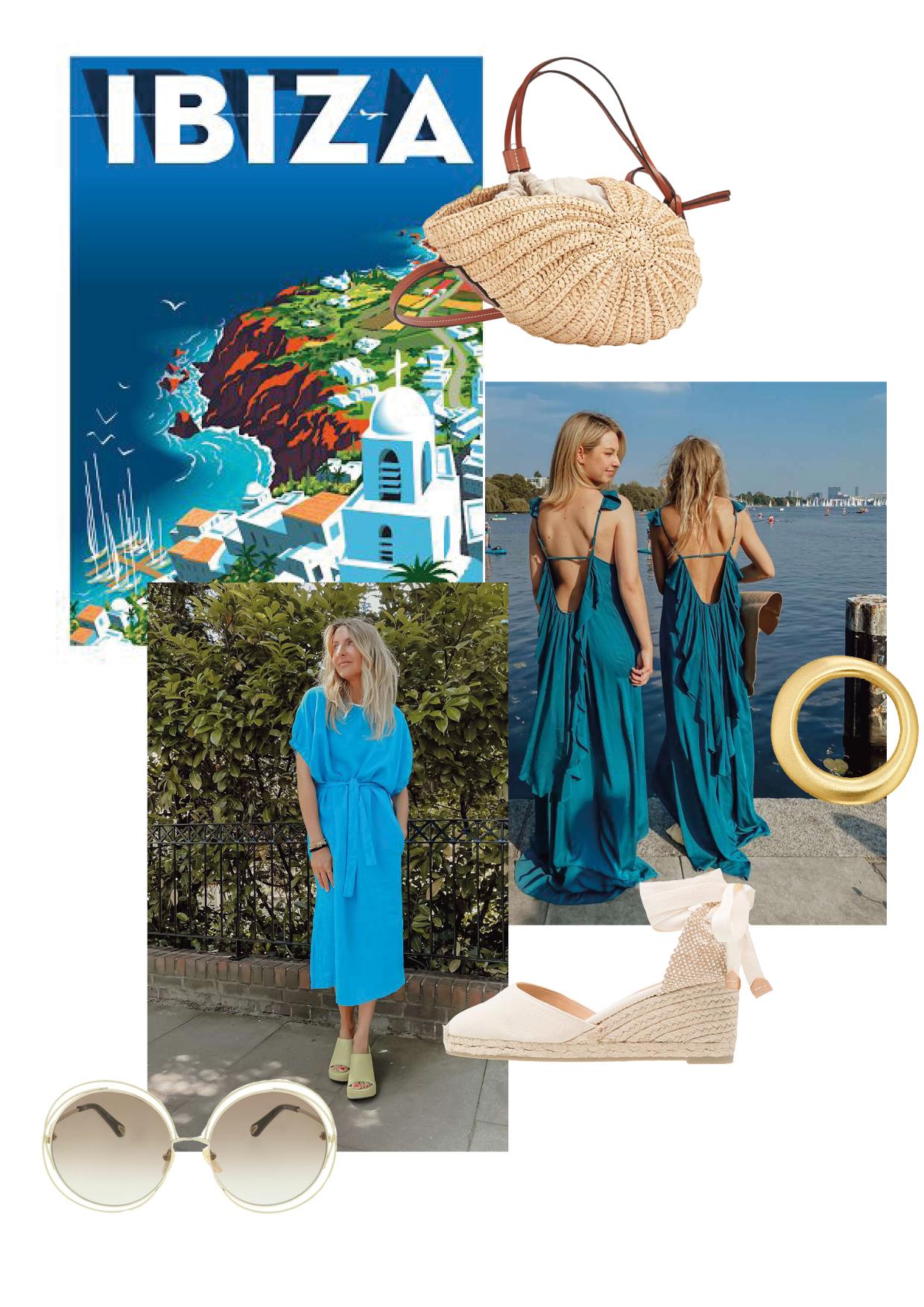 Kleid: SoSUE Misty Kleid: SoSUE Cowboy Fresco Sonnenbrille: Chloe Tasche: Loewe Schmuck: Marjana von Berlepsch