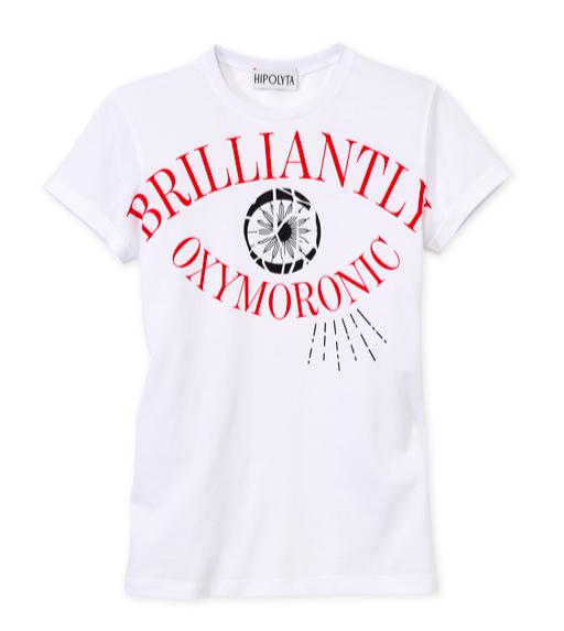 Hipolyta - Weißes Shirt mit Druck