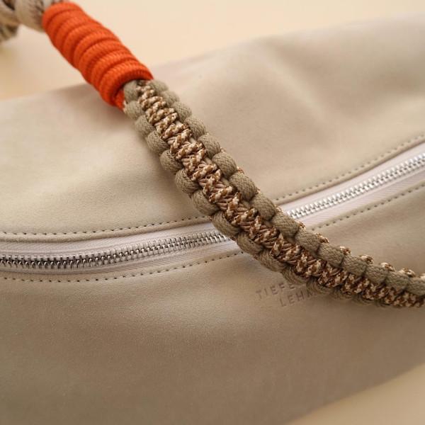 Makramee Bag Strap Barcelona beige/orange