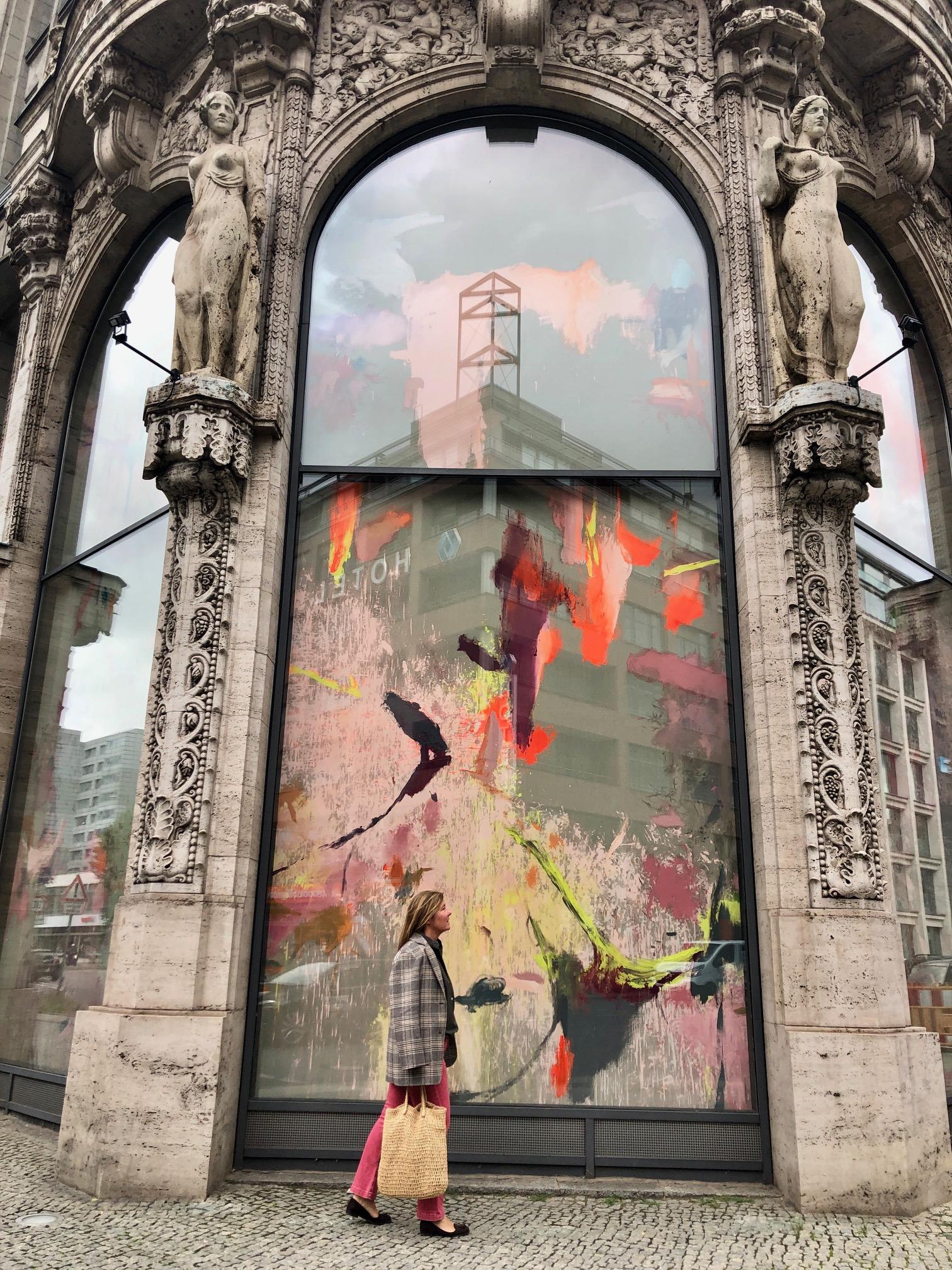 Riesenmalerei von Michael Müller @ Galerie Thomas Schulte