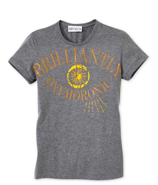 Hipolyta - Graues Shirt mit Druck