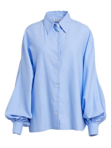 Bluse Antonia Flanell Light Blue