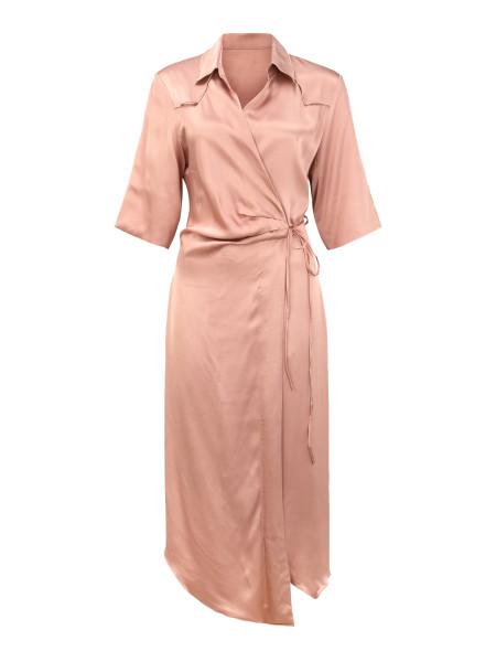 Kleid Wrap Puder