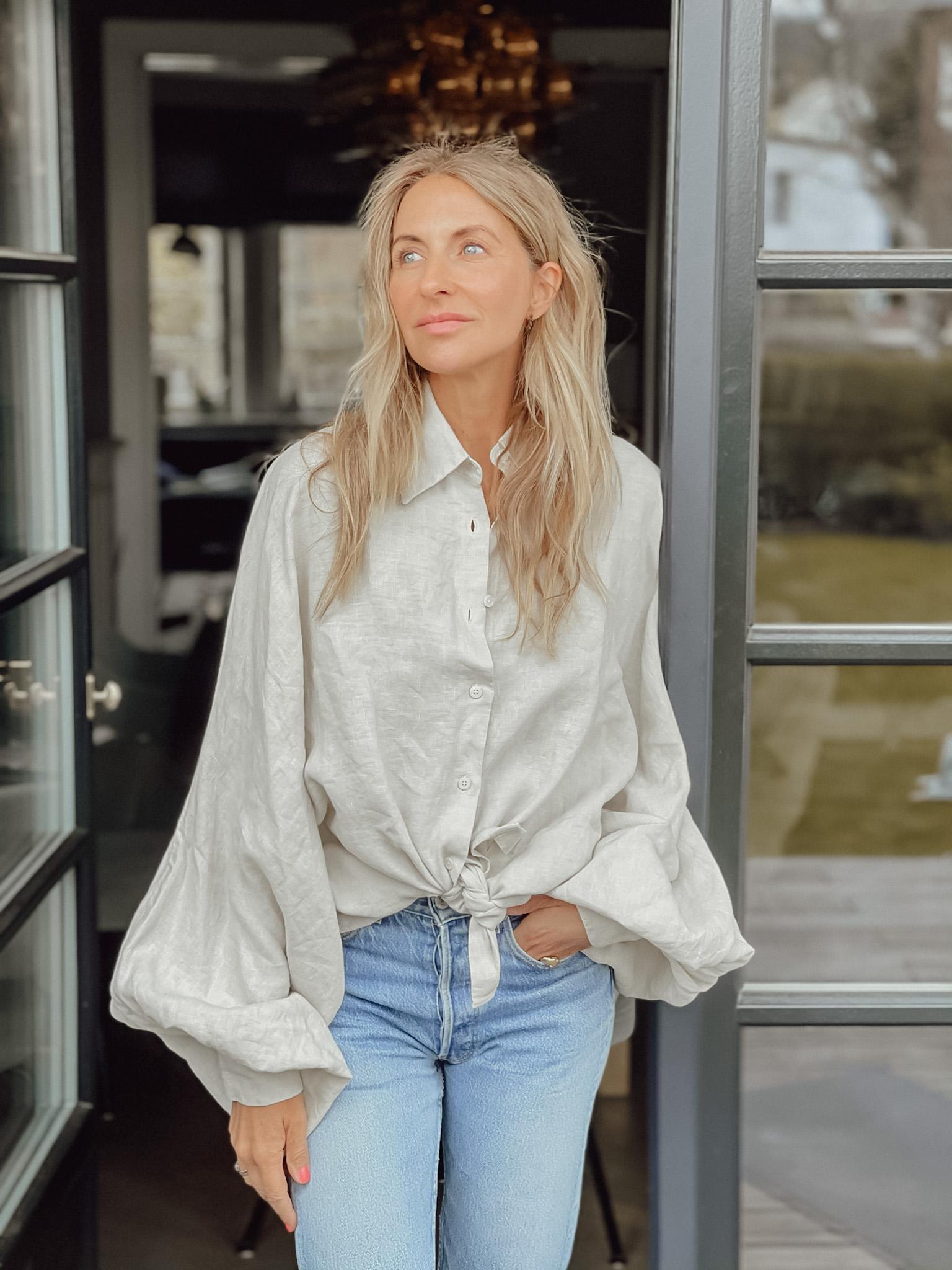 Neu im Shop: Antonia Bluse Leinen