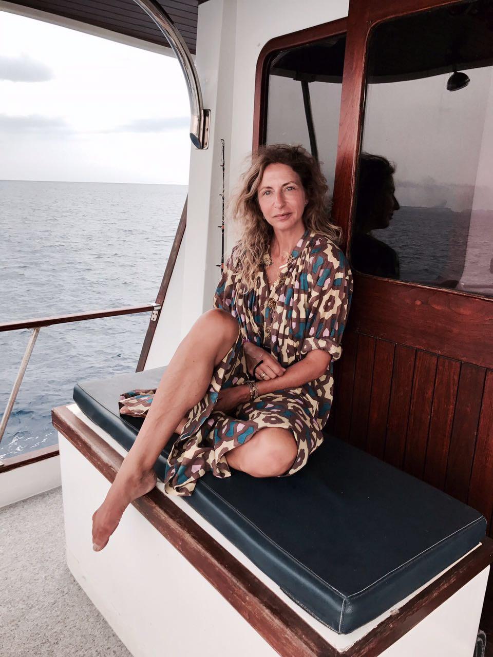 Ibiza on a boat